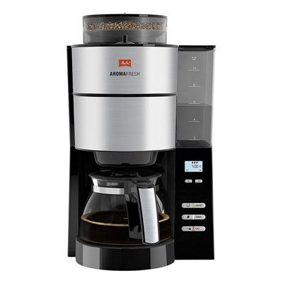 1021-01BK Grind and Brew Coffee Maker with Adjustable Intensity and Grind Level in Black/Stainless Steel