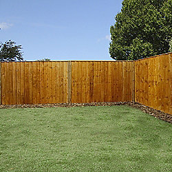 Mercia Feather Edge Fence Panel 4ft Dipped