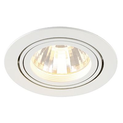 Tria LED Disk Adjustable Downlight Round White Modern Style