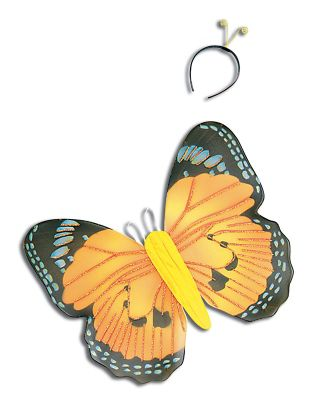 Yellow Butterfly Kit & Antennae