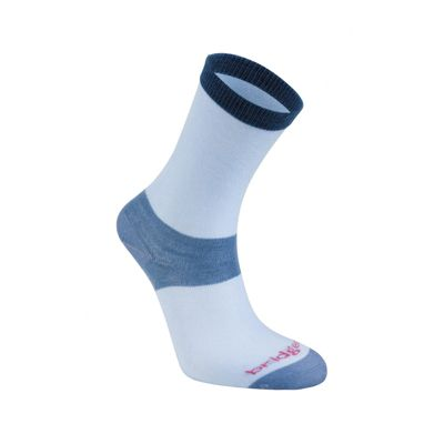 Bridgedale Ladies Everyday Outdoors Coolmax Liner Sock Sky Blue M