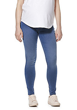 F&F Under-Bump Maternity Jeggings - Mid Wash