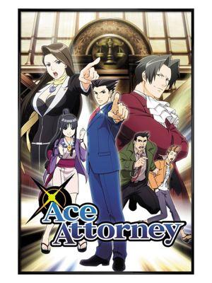 Ace Attorney Gloss Black Framed Poster 61 x 91.5cm