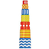 Gowi Toys 7 Part Retro Pyramid Stacker - Stacking Toys