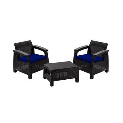 Gardenista Replacement Seat Pad 2 Piece Set for Keter Allibert Corfu Patio Set - Blue