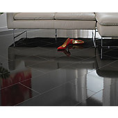 Westco 8mm Glossy Black Tile Laminate Flooring