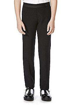 F&F School 2 Pack of Girls Bow Trim Trousers - Black