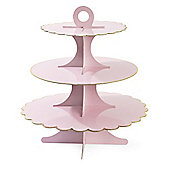 Miss Etoile Cake Stand Rose Paper with Gold Edge