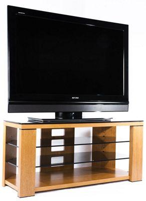 Optimum Natural Oak Edge 1000 Open TV Stand