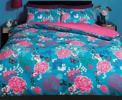 Aviary, Floral Butterflies King Size Bedding