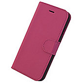 Tortoise™ Genuine Leather Folio Case with Inside Pocket & Built-in Stand, iPhone 6, Pink.