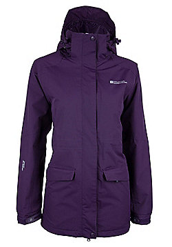 Glacier Extreme Womens Long Waterproof Jacket - Purple