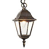 Black/Gold Cast Aluminium IP44 Outdoor Hanging Lantern