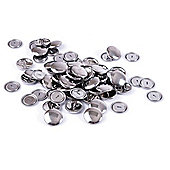 Hemline 29mm Metal Self Cover Buttons (100 Pieces)