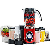 Andrew James 5 in 1 Smoothie Maker With Mini Chopper in Red
