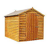 8 x 6 Sutton Overlap Apex Shed Windowless With Single Door Garden Wooden Shed 8ft x 6ft (2.44m x 1.83m)