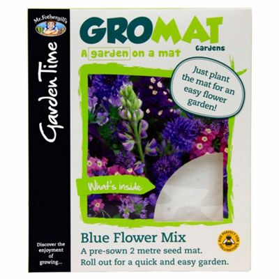 Mr Fothergill's GroMat - Easy-to-Sow Blue Flower Seed Mix