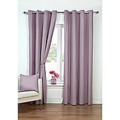 Hamilton McBride Canvas Unlined Ring Top Curtains - Mauve
