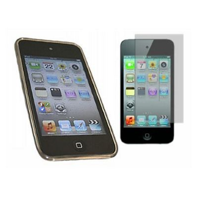 ProGel Skin Case & LCD Screen Protector iPod Touch 4G - Twin Pack (Black)
