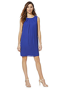 F&F Tie-Back Shift Summer Dress - Cobalt blue