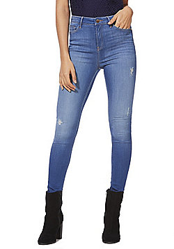 F&F Contour Modal Blend Skinny Jeans with LYCRA® BEAUTY - Mid wash