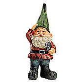 Large Traditional 39cm Garden Gnome Ornament Statue with Green Hat