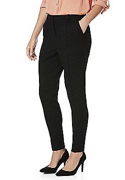 F&F Twill Skinny Trousers - Black
