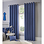 Fusion Sorbonne Eyelet Curtains - Blue