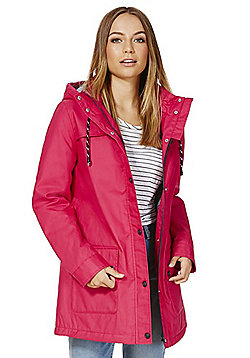 F&F Coated Shower Resistant Fisherman Jacket - Pink