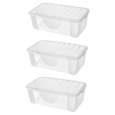 Set of 3 4.7L Plastic Shoe Storage Boxes  sc 1 st  Tesco & Buy Set of 3 4.7L Plastic Shoe Storage Boxes from our Storage Boxes ...