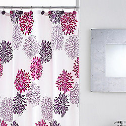 Modern Makeover Dahlia Shower Curtain With Hooks Catalogue Number 473 6972