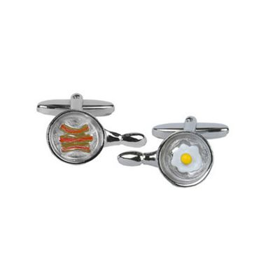 Egg and Bacon in a Pan Cufflinks