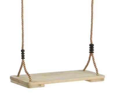 Pine Wood Swing Seat PP Ropes