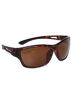 F&F Tortoiseshell-Effect Wraparound Sunglasses One size Brown