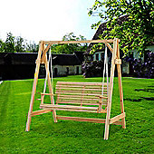 Outsunny 2 Seater Larch Wood Garden Swing Chair