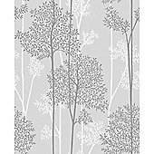 Superfresco Easy Eternal Paste The Wall Branch Trail Grey/White Wallpaper