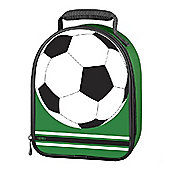 Thermos Kids Football Upright Lunch Kit w/ Padded Carrying Handle, PE Foam Insulated (Green)
