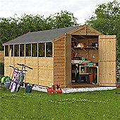 BillyOh Keeper Overlap Apex Wooden Garden Shed - 16 x 8 Windowed
