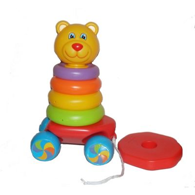 Fun Time Pull Along Teddy Stacker Stacking Rings