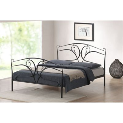 Vine Style Black Metal Bed Frame - Double 4ft 6