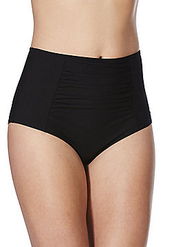 F&F Shaping Swimwear High Waist Bikini Briefs - Black