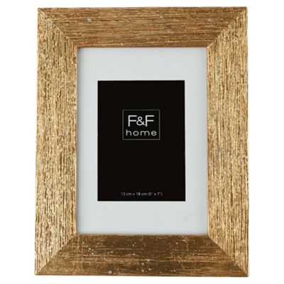 F&F home gold scratch effect frame 5x7