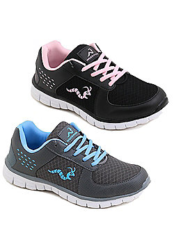 2 X Woodworm Lxt Ladies Running Shoes / Trainers - Multi