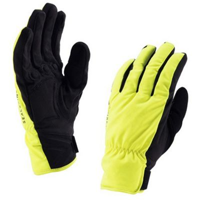 SealSkinz Brecon Gloves Hi Vis Yellow Size: L