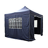 All Seasons Gazebos, Heavy Duty, Fully Waterproof, 3m x 3m Superior Pop up Gazebo Package in Navy Blue