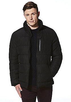 F&F Padded Shower Resistant Coat - Black