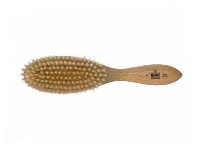 Kent Oval White Bristle Brush - LS7