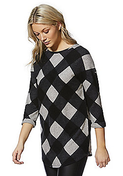 F&F Checked Tunic - Grey