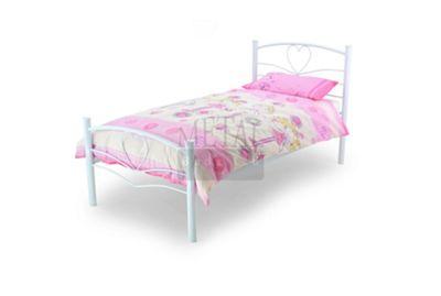 MetalBedsLtd Love Single Bed Frame - White