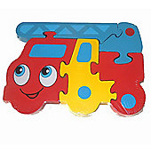 Traditional Wood 'n' Fun Transport Puzzle - Toys Fire Engine 12m+